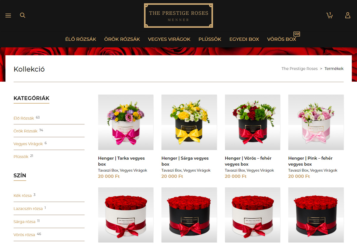 The Prestige Roses shop layout | SOLAR STUDIOS