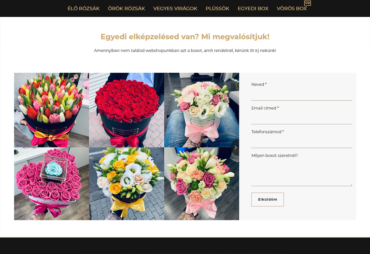 The Prestige Roses egyedi box layout | SOLAR STUDIOS